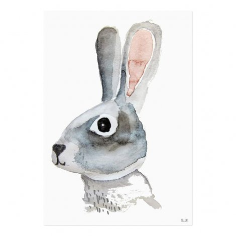 Hauptbild: Poster Hase A4