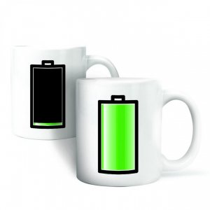 Kaffeebecher Morph Mug Battery