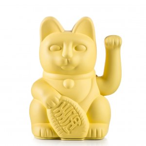 Winkekatze Lucky Cat Yellow