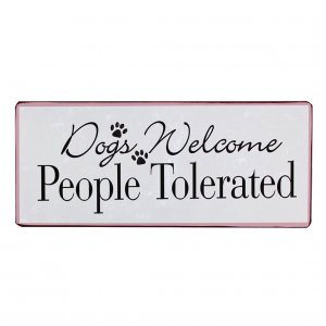 Email Schild Dogs welcome