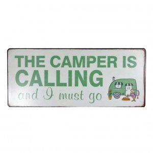 Email Schild The camper is calling
