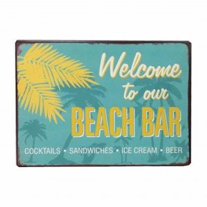 Email Schild Welcome to our beach bar