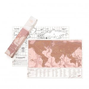 Scratchmap rosé gold Travel Edition