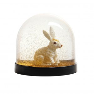 Wonderball rabbit gold glitter