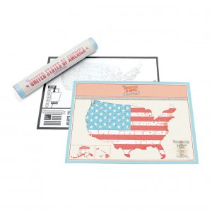 Travel Edition Scratch Map USA