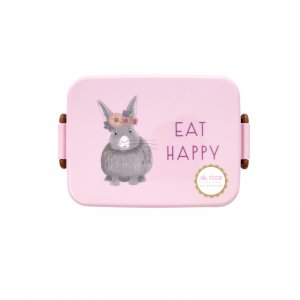 Lunch Box Farm Animal pink