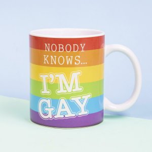 Tasse Nobody knows I m Gay