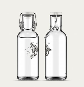 Trinkflasche Fill me Spaceman 6dl