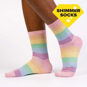 Damensocken Shimmer Socks Pastel Prismatic