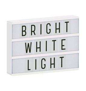 Messagebox  Lightbox  A4, Original  weiss