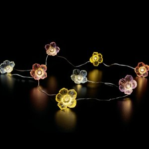 Lichterkette batteriebetrieben 30LED Flower