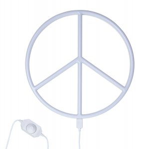 Neonstyle Lampe Peace  weiss