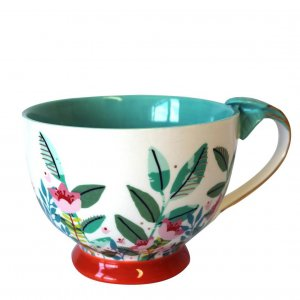 Keramik Tasse Secret Garden Fox