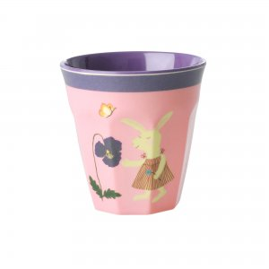 Melamin Kinderbecher Hase rosa