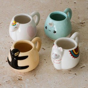 Espressotasse 4er Set Animals