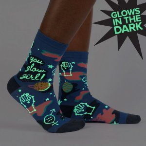 Damensocken You Glow Girl