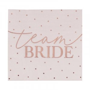 Servietten Team Bride roségold
