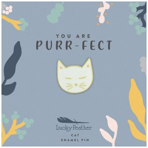 Emaille Pin mit Goldkante You are Purr-fect