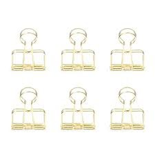Wire Clips 6 er Set GOLD